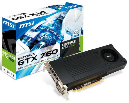 Видеокарта PCI-E 3.0 MSI GeForce GTX 760